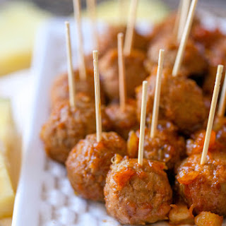 Barbecue Pineapple Meatballs