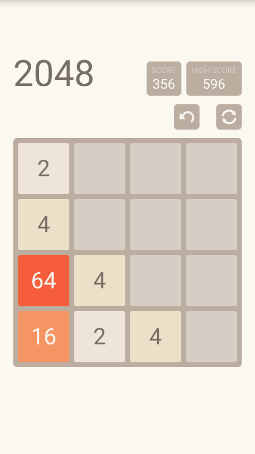 2048 Original: screenshot