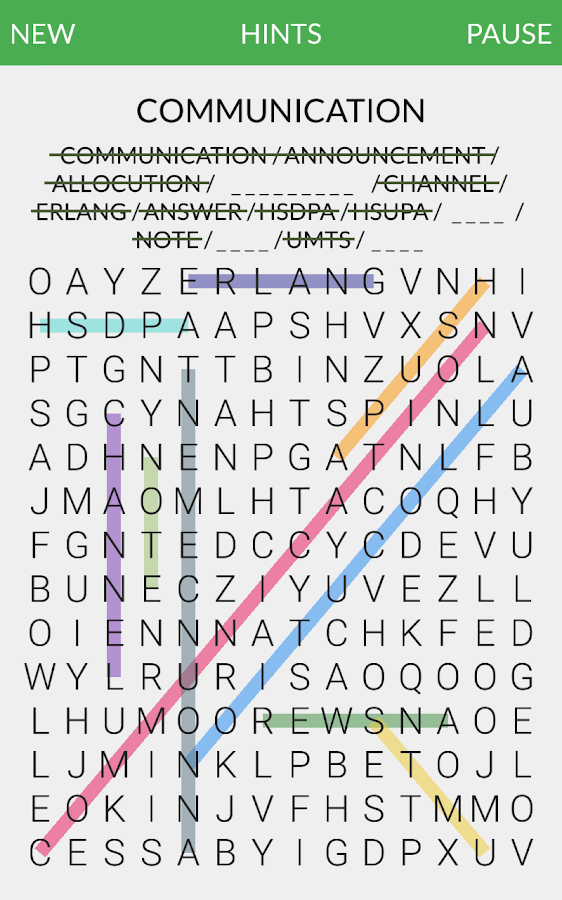 Minestrone - word search- screenshot