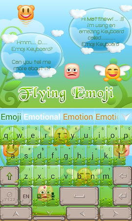 Flying Emoji GO Keyboard Theme 3.87 screenshot 662631