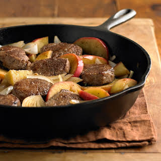 Braised Pork Medallions with Apples.