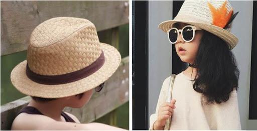 chapeaux enfants chapeau de paille retro traveller
