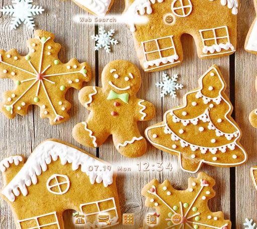 クリスマス壁紙-ジンジャーマン・クリスマス