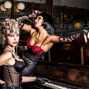 rock chicks by Paul Phull - People Portraits of Women ( piano, rock chicks, bar, people, pub,  )