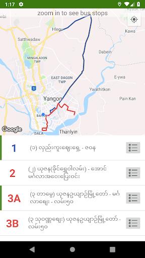 39 Bite Pu - Yangon Bus Guide 2.4 screenshots 2