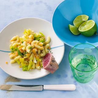 Linsen-Nudel-Salat mit Kardamom und Thunfisch