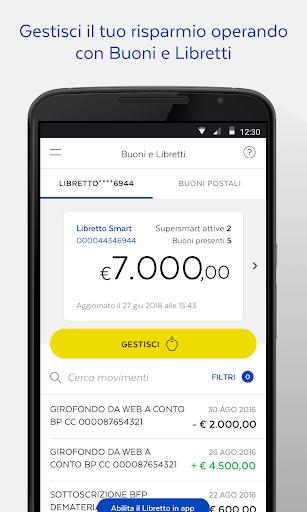 BancoPosta screenshot 7