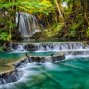Matajitu Waterfall by Erry Subhan - Landscapes Waterscapes ( water, sumbawa, west nusa tenggara, wood, waterfall, tourism, travel, landscape, tropical forest, jungle, conservation, indonesia, moyo island, asia, rain forest, matajitu, river )