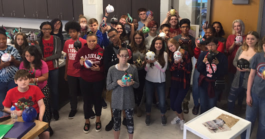 2017 BHS Students Gift Creative Pumpkins