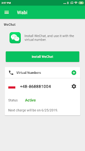 Wabi – Virtual Number for WeChat 3