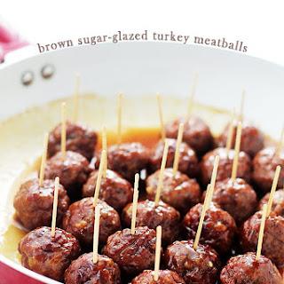 Brown Sugar-Glazed Turkey Meatballs Recipe