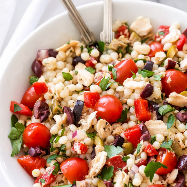 Mediterranean Salmon Coucous Salad Recipe