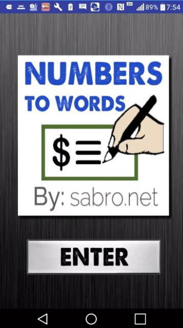 Numbers to Words Converter N2W- screenshot