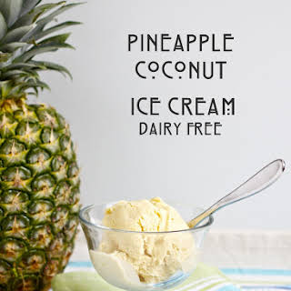 Pineapple Coconut Ice Cream (Paleo & Dairy-Free).