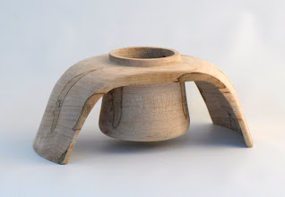 "Photo: Jerry Kaplan - Rectangular Vessel - 8"" x 3"" - Ambrosia Maple"