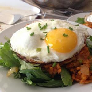 Sweet Potato Kimchi Hash Brunch - gluten free, dairy free, vegetarian