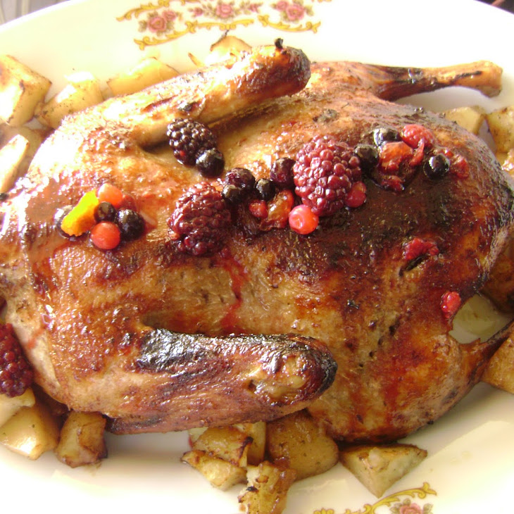 Roasted Duck with Berry Glaze