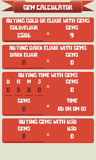 ? Gem Calculator for Clash of Clans 1.2.7 screenshots 2