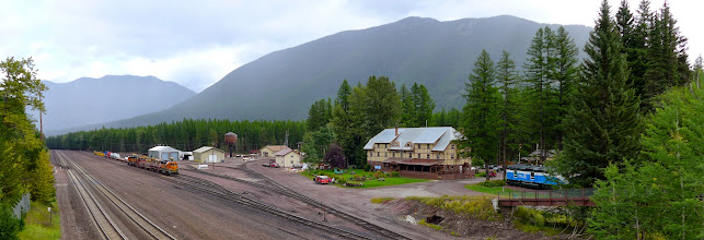 """Photo: The next day: We had planned to drive over to Many Glacier and hike up to the Grinnell Glacier (just below the overlook), but Mardi's feet said """"no"""". Instead we took Highway 2 to Browning, making some stops along the way. This is the Issac Walton Inn in Essex."""
