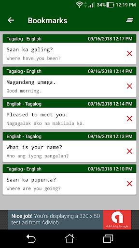 Screenshot for Filipino - English Translator in Hong Kong Play Store