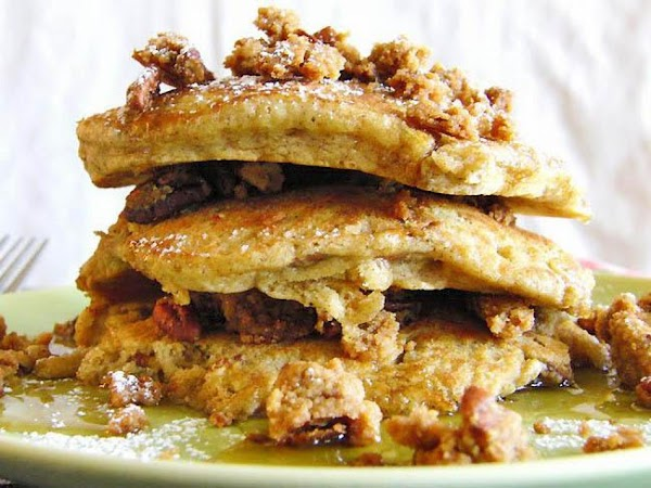 Butter Pecan Crumble Pancakes With Homemade Cinnam Recipe
