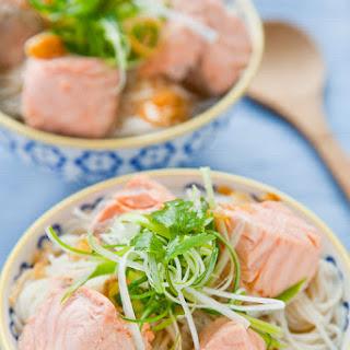 Salmon Rice Noodle Soup.