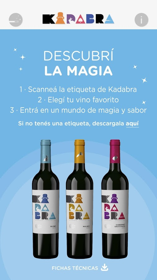 Kadabra Wine: captura de pantalla