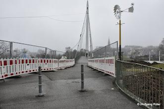 Photo: Diese Hängebrücke wird bald ein Opfer für den Rosenstein-Straßen-Tunnel werden