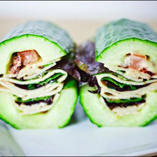 Vegan Faux Turkey Veggie Cucumber-Wich