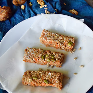 No Bake Carrot Fig Cake Energy Bars