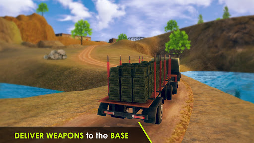 Army Truck Driving 3D Simulator Offroad Cargo Duty apkpoly screenshots 8