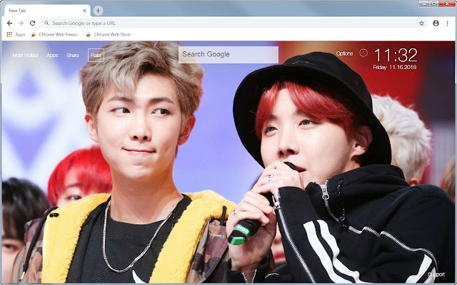 BTS RM & J Hope Wallpapers NamSeok New Tab