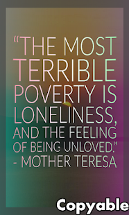 INSPIRATIONAL MOTHER TERESA QUOTES – Apps on Google Play