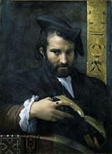 """Photo: Parmigianino, """"Ritratto di uomo con un libro"""" (1524 ca.)"""