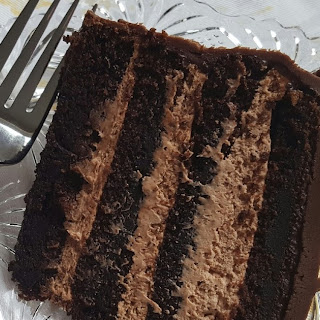 Irish Cream Mousse Chocolate Layer Cake.