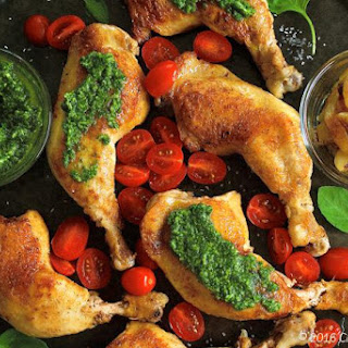 Italian Chicken with Basil Pesto & Grape Tomatoes