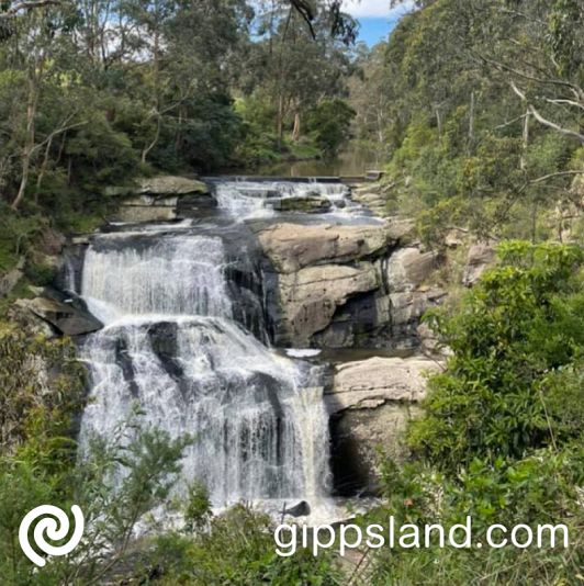 Rocks below sure get a pounding from the 59m drop, particularly after heavy rains, when large volumes of water cascade brilliantly onto the rocks below