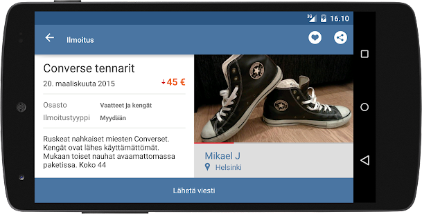 Tori.fi- screenshot thumbnail