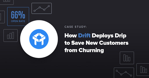 Case Study: How Drift Deploys Drip to Save New Customers from Churning (and Achieves 66% Open Rates) Cover Image