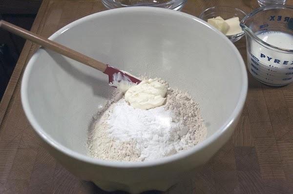 Add the sour cream.