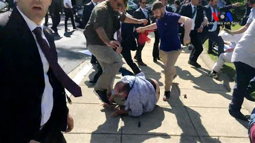 Turkish president's bodyguards stomp protesters in Washington DC