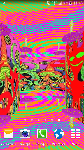 Psychedelic 3d live-wallpaper