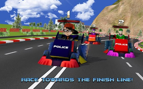 Kids Police Car Racing screenshot 9