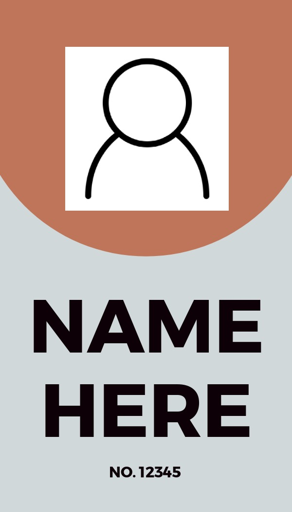simple grey and orange id card template