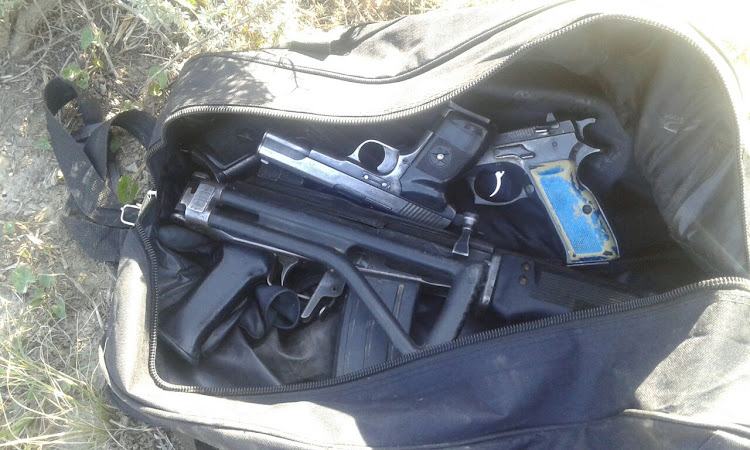 Two Eastern Cape men were arrested for possession of unlicensed firearms and ammunition.