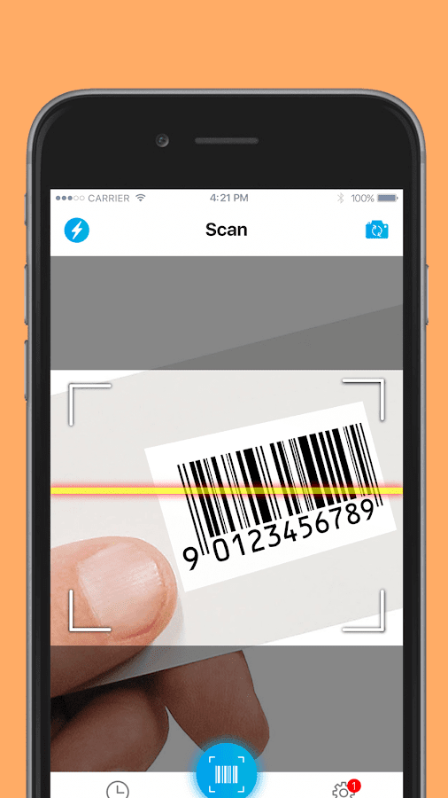 QR code reader- screenshot