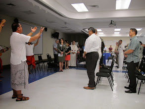Photo: Opening Ceremony by Pa'a Taotao Tao AmeriCorps and Invocation by Most Reverend Anthony Sablan Apuron, O.F.M., Cap.,D.D.