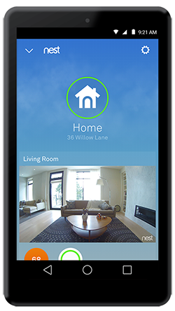 Nest app home screen spaces