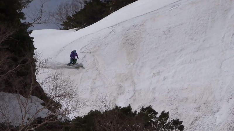 【乗鞍岳バックカントリー】スキー滑走⑤