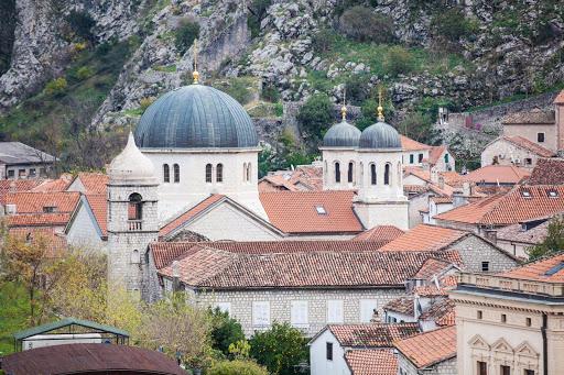 Kotor-classic-buildings.jpg - Church spires amid a cluster of classic buildings in Old Kotor, Montenegro.